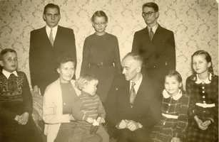 with my family, 1955